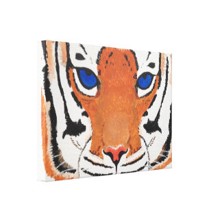 Tiger Face - Print on Canvas Stretched Canvas Print