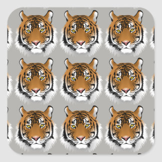Tiger face stickers