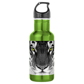 Tiger face - white tiger - eyes tiger - tiger 532 ml water bottle
