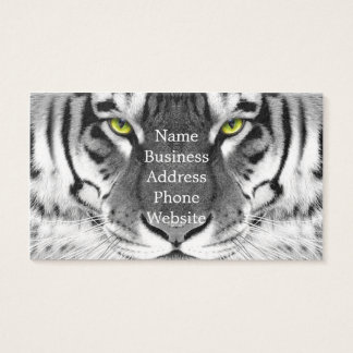 Tiger face - white tiger - eyes tiger - tiger business card