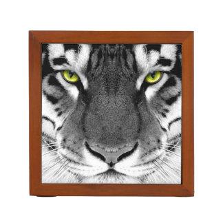 Tiger face - white tiger - eyes tiger - tiger desk organiser