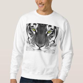 Tiger face - white tiger - eyes tiger - tiger sweatshirt