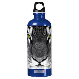 Tiger face - white tiger - eyes tiger - tiger water bottle