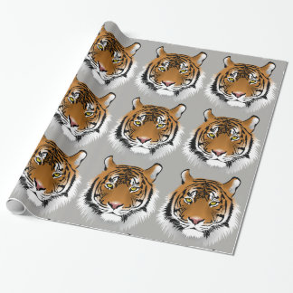 Tiger face wrapping paper