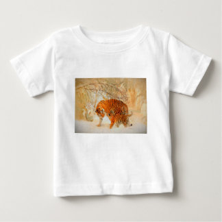 Tiger Family in a Blizzard - PaintingZ Baby T-Shirt