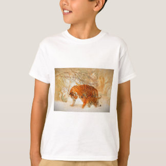 Tiger Family in a Blizzard - PaintingZ T-Shirt