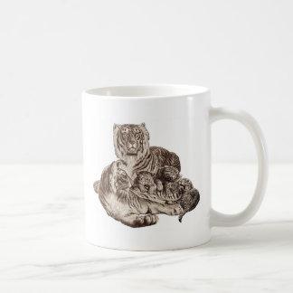 Tiger Family Basic White Mug