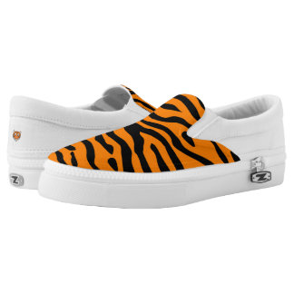 Tiger fans - slip on sneaker w/stripes and face