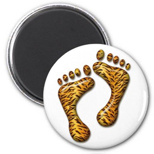 Tiger Feet Refrigerator Magnets