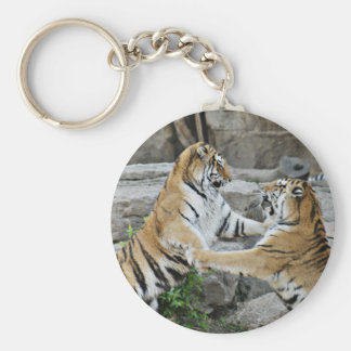 TIGER FIGHT - ACTION PHOTOGRAPH KEY RING