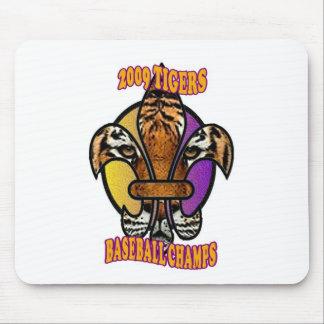 Tiger Fleur de Lis Mouse Pad