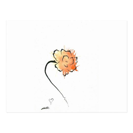 tiger flower postcard