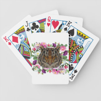 tiger flowers design bicycle playing cards