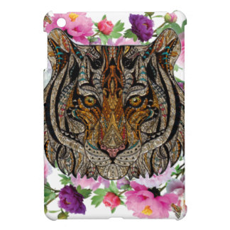 tiger flowers design iPad mini cover