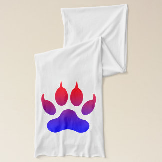 Tiger Foot Print White Jersey Scarf