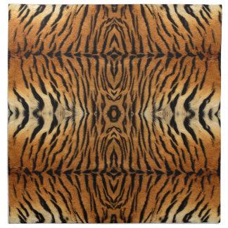 Tiger fur pattern cloth napkins