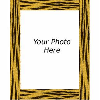 Tiger Fur Photo Frame Photo Sculpture