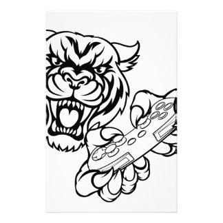 Tiger Gamer Mascot Stationery