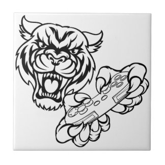 Tiger Gamer Mascot Tile