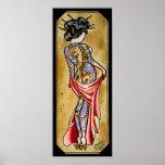 Tiger Geisha Print