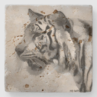 Tiger - Ghostly 2 Stone Coaster