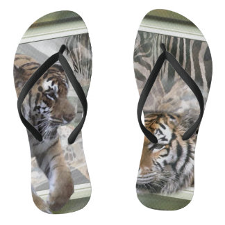 Tiger Giraffe Zebra Lovers Thongs