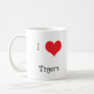 Tiger head beautiful photo I love heart mug