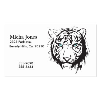 Tiger Head Blue Eyes Double-Sided Standard Business Cards (Pack Of 100)