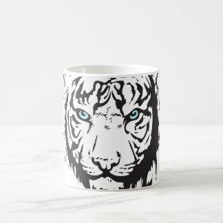 Tiger Head Blue Eyes Coffee Mug