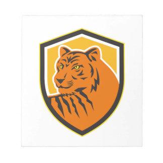 Tiger Head Front Crest Retro Notepad