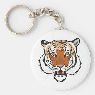 Tiger head key ring