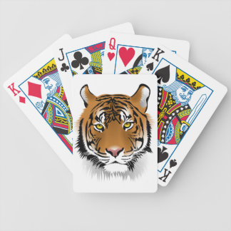 Tiger Head Print Design Bicycle Playing Cards