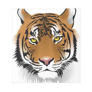 Tiger Head Print Design Notepad