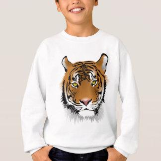 Tiger Head Print Design Sweatshirt
