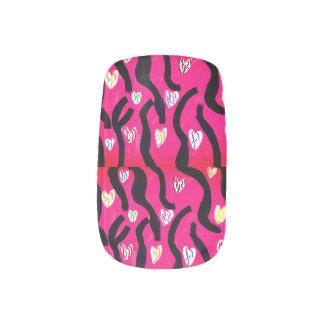 Tiger heart minx nail art