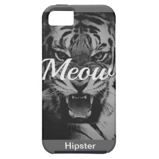 Tiger Hipster Black university coolly styles fight Tough iPhone 5 Case