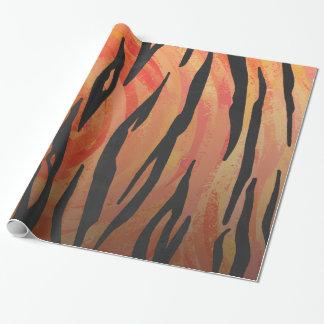 Tiger Hot orange and Black Print