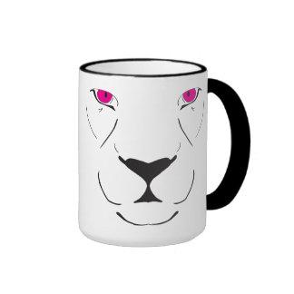 Tiger hot pink ringer mug