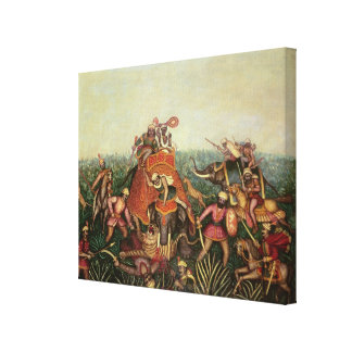Tiger Hunt, 1892 (oil on canvas) Gallery Wrapped Canvas