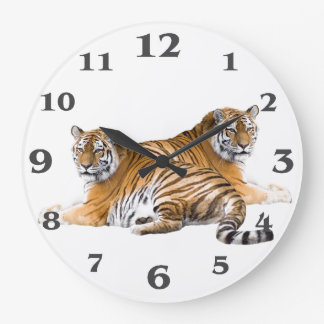 Tiger image for Round-Large-Wall-Clock Large Clock