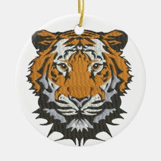 tiger imitation of embroidery ceramic ornament