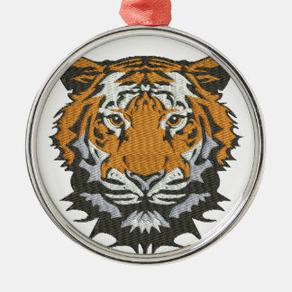 tiger imitation of embroidery metal ornament