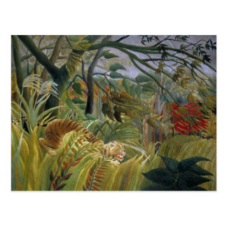 Tiger in a Tropical Storm by Henri Rousseau Postcard