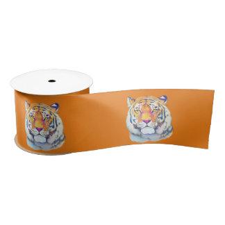 """Tiger in Colors 3"""" Satin Ribbon"""