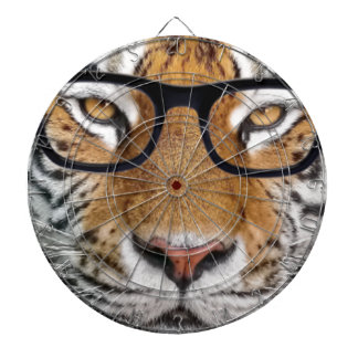 Tiger in glasses dartboard