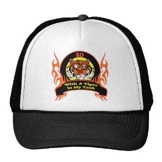 Tiger In My Tank 80th Birthday Gifts Mesh Hats