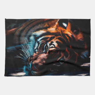 Tiger In Repose Kitchen Towel