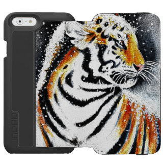 Tiger In The snow noir Incipio Watson™ iPhone 6 Wallet Case