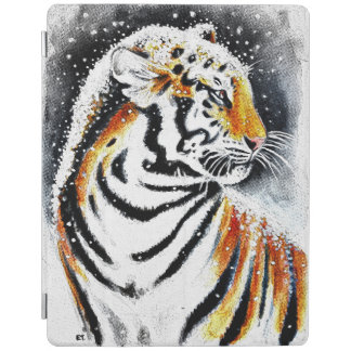 Tiger In The snow noir iPad Smart Cover