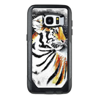 Tiger In The snow noir OtterBox Samsung Galaxy S7 Edge Case